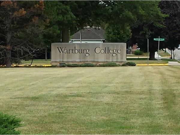 Wartburg College, Waverly, Iowa.  Home of the Knights