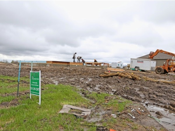 New homes being built at Sienna Falls community in Ankeny Iowa, as of May 1st 2014