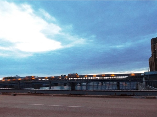 The iconic image of the 4th St. pedestrian bridge welcomes residents and visitors to downtown
