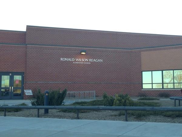 Reagan Elementary between Canterberry Crossing and Whitehawk neighborhoods.