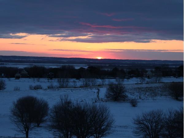 Sunrise in Fort Calhoun, NE.
