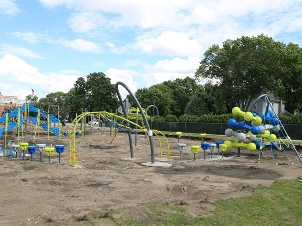 Lincoln Elementary School is getting retro with its newest play ground