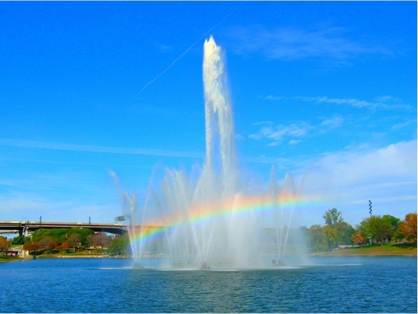 Heartland of America Park fountain on Conagra campus in downtown Omaha