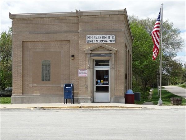 The Bennet Post Office. An architectural snapshot of this midwestern town