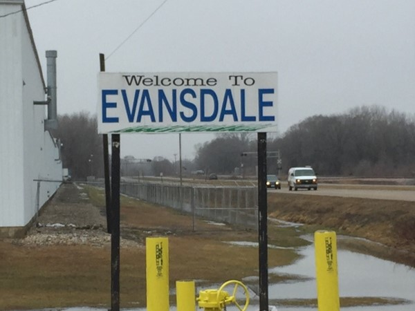 Evansdale is a community of around 5,000 located just east of Waterloo