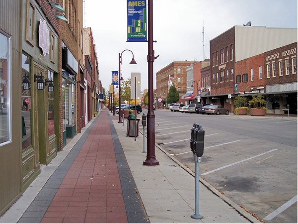 Ames Main Street features several shops and restaurants