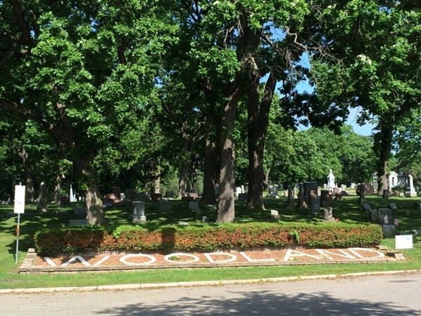 Entrance to Woodland Cemetery