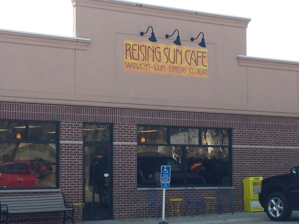 The Reising Sun Cafe is the perfect stop for coffee, lunch, and even ice cream!