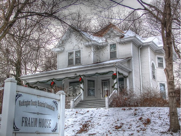The historic Frahm House in Fort Calhoun