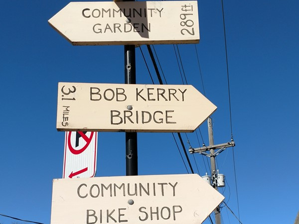 Community Bike Shop has a great recycled upcycled display