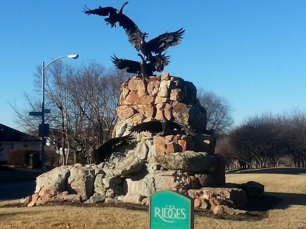 Sculpture at The Ridges entrance