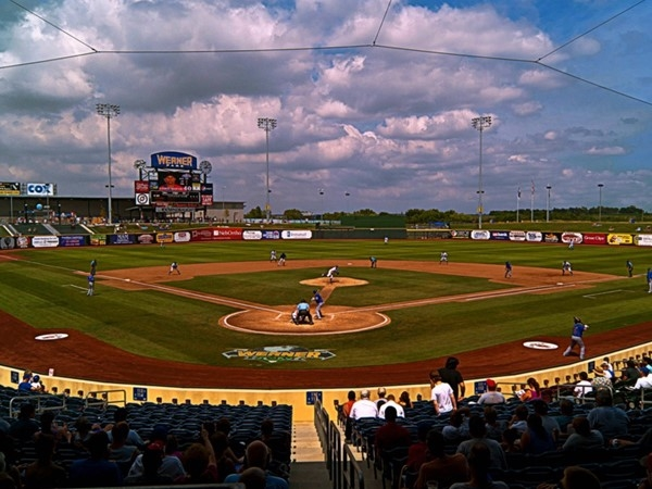 Werner Park is located off Hwy 370 and 120th St. Love catching a AA baseball game during the week