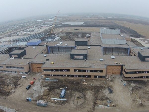 Updated construction photo from December 2015 at Johnston High School