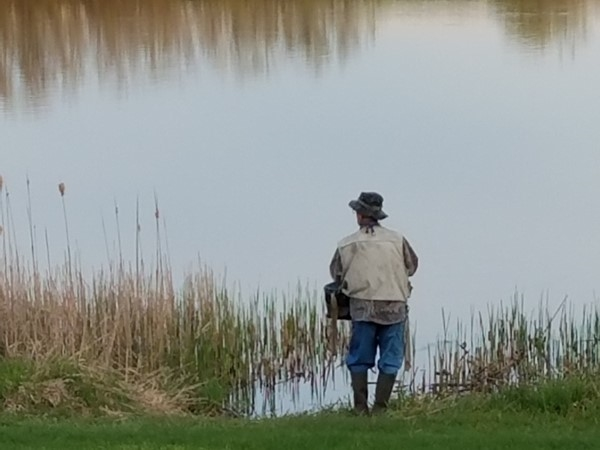 Hoping for the big catch at Prairie Lakes Park
