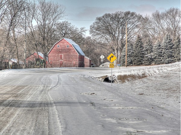 Winter roads of Washington County