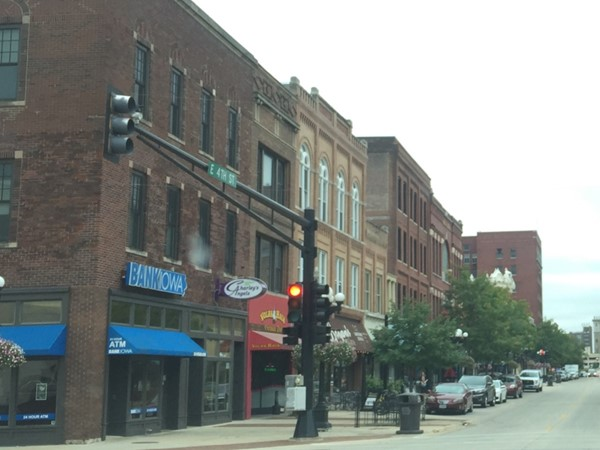 Franklin and East 4th Streets. Waterloo is revitalizing the downtown area.