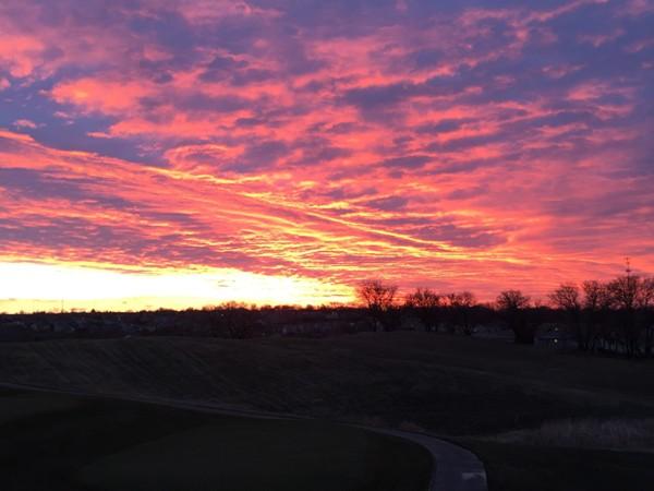 Sunrise over Deer Creek