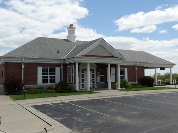 First Nebraska Bank in Bennet. Close to Lincoln, but everything you need in town