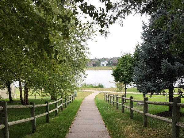 Access to the Whitehawk lake and trail from the neighborhood