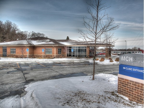 The fabulous new MCH & Health System Fort Calhoun Clinic located on the south end of town