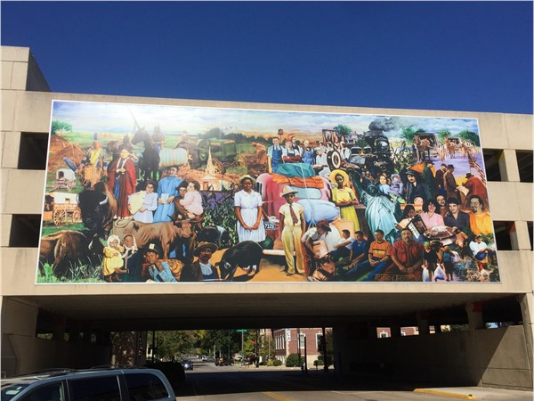 """We The People"" mural was created by Richard C. Thomas, an artist from New Orleans"