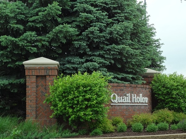 Entrance to Quail Hollow in West Omaha