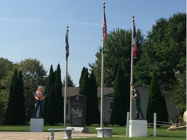 Veterans Memorial Park in Evansdale