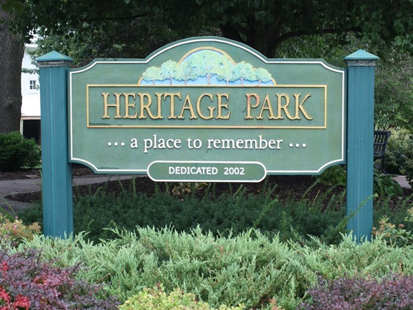 Heritage Park, located right across from City Hall