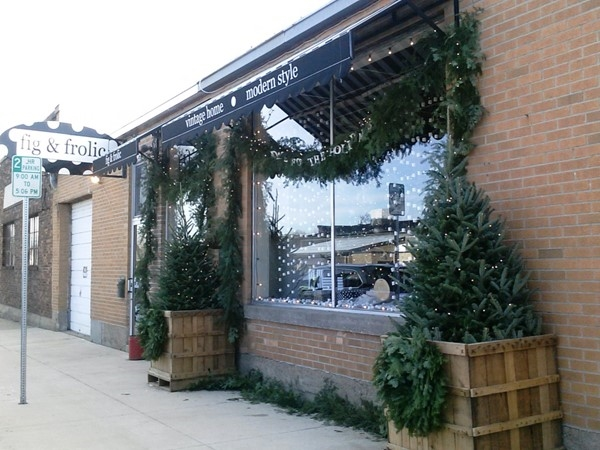 Downtown Cedar Falls harbors several of our favorite shops, including Fig & Frolic on 114 W 5th St.