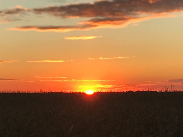 A beautiful sunset in Hudson