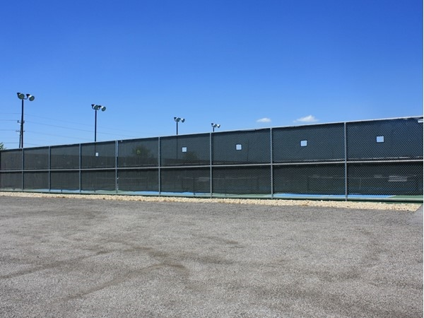 Tennis courts at our Sheridan Meadows Park on the north side of town