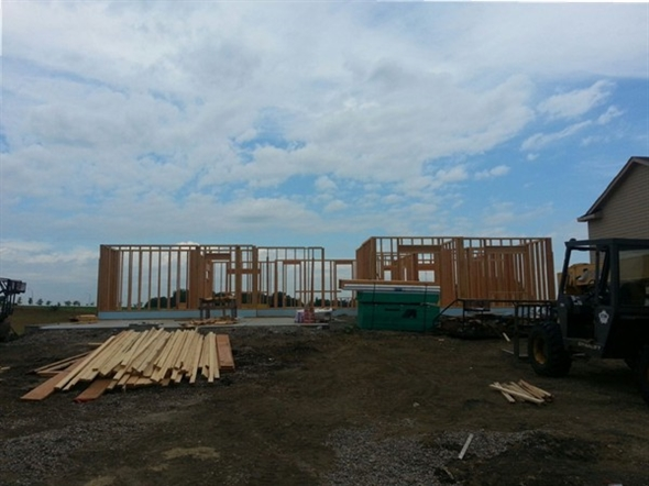 Home being built at Pine View Estates in Ankeny Iowa.  One of Ankeny's newest developments.