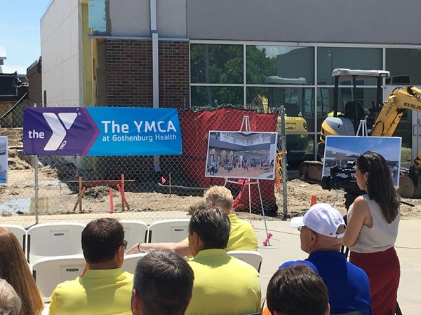 Ground breaking ceremony for the new YMCA coming to Gotehnburg