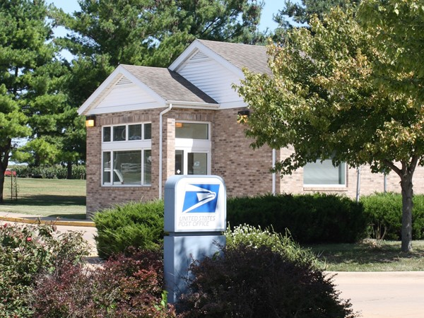 Donahue has a postal office located right across the street from the Fire Station