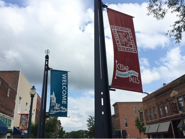New banners in downtown Cedar Falls