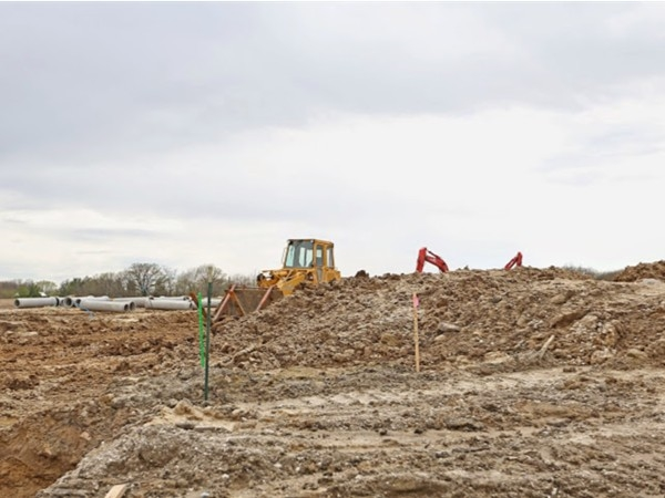 Work being done on Lost Lake Estates in Polk City Iowa