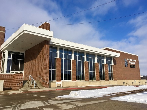 Waterloo East High School offers a welcoming sight for students, teachers, staff and visitors