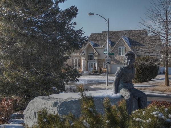 Statue on Burdette Street in Huntington Park