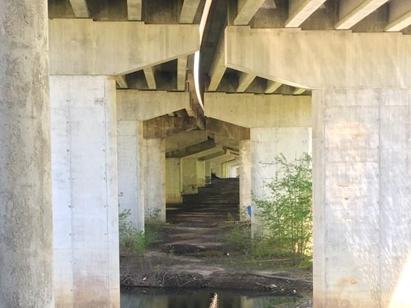 Bike trails in Cedar Falls under the Hwy 27 bridge