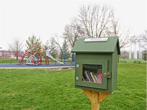 "Hawkeye Park ""Little Free Library"""