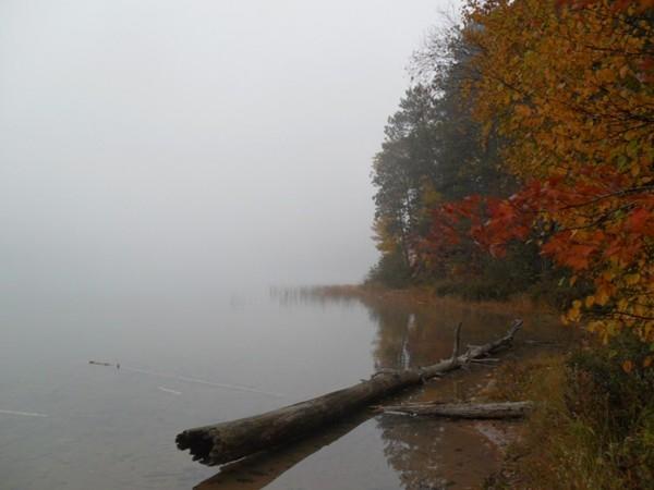 Foggy morning on Moccasin Lake