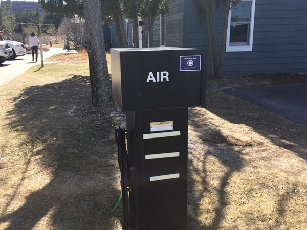 Just love that Sleeping Bear Dunes NP Welcome Center has an air station for cyclists