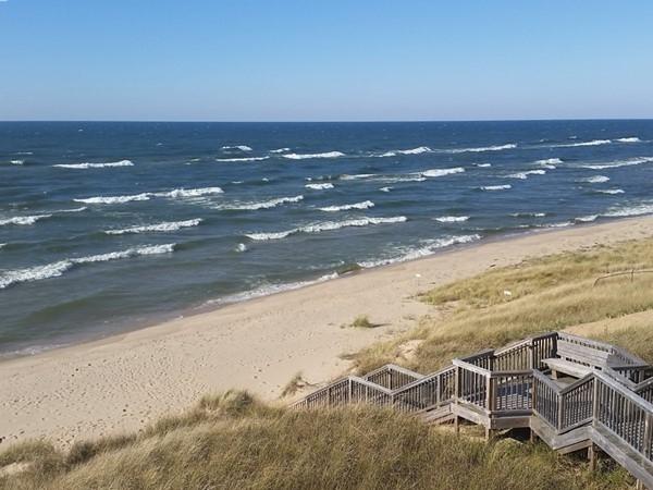 Steps to Lake Michigan Beach at Kouw Park