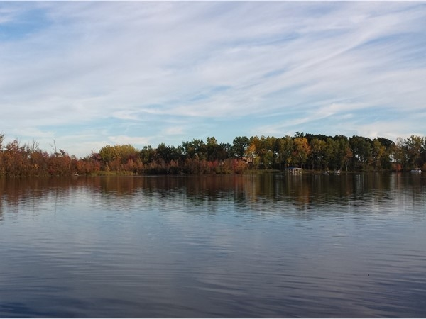 Peaceful and serene Squaw Lake, connected to Lake Ponemah in Fenton