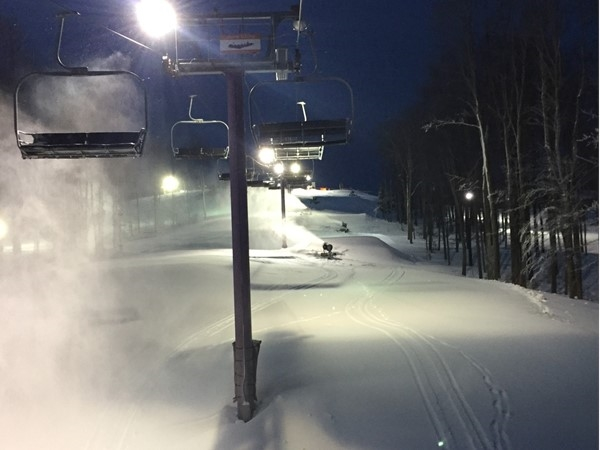 Night skiing at Shanty Creek's Schuss Mtn. What a beautiful way to spend an evening with friends