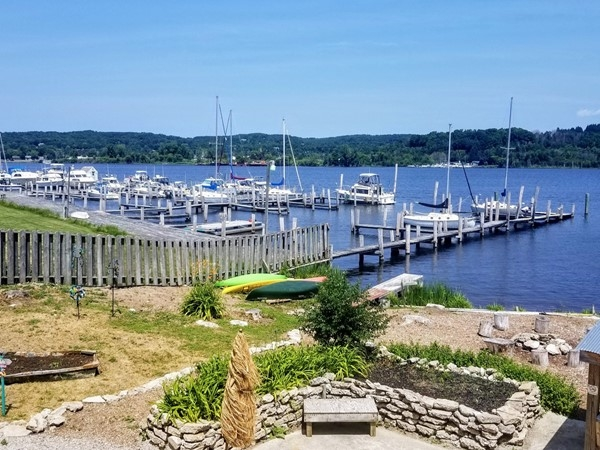 Great place to unwind and enjoy the Betsie Bay views