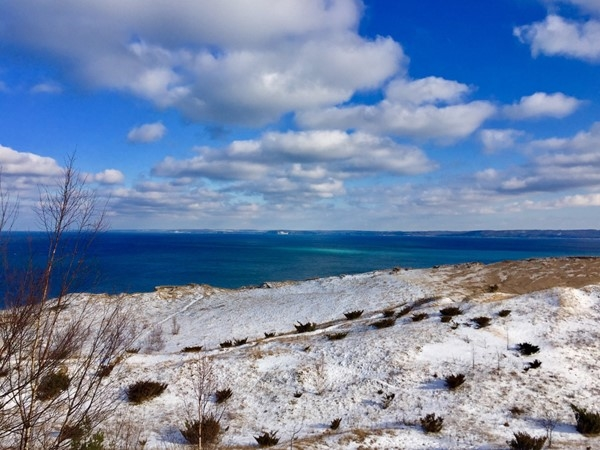 Pyramid Point dunes trails are not just for summer! Have fun exploring
