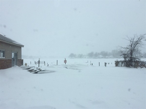 South side Lake Fenton, March 12, 2014 snowstorm