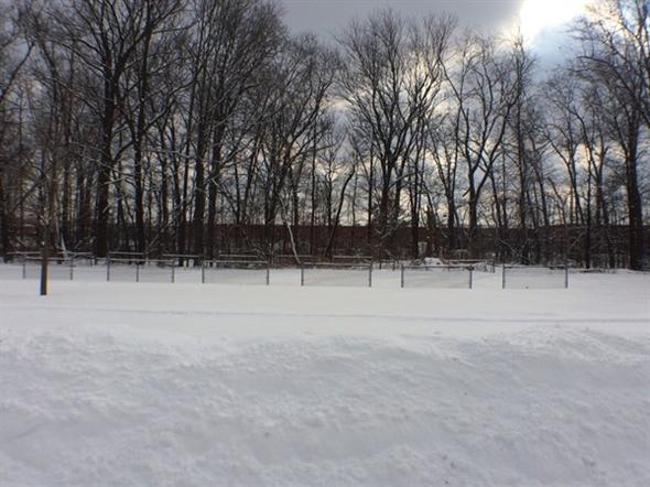 Horseshoe pits at Silver Lake Park