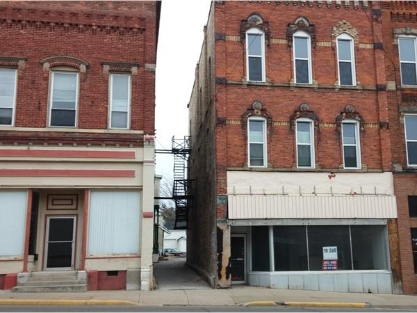 Historic brick buildings in downtown Vassar